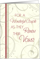 Beige Swirls For Couple Congratulations Vow Renewal Card