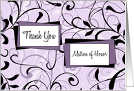 Thank You Best Friend Matron of Honor Card - Lavender Floral card