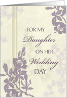 Congratulations to my Daughter on Wedding - Purple Floral card