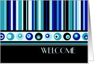 Welcome to the Club / Group - Blue Stripes card