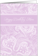 Happy Birthday Mom from Daughter - Lavender Floral card