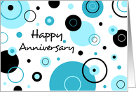 Happy Employment Anniversary - Blue Dots card