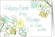 Happy Easter for Brother & Sister in Law - Spring Flowers card