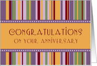 Happy Employment Anniversary - Colorful Stripes card