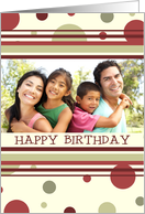 Happy Birthday Photo Card - Polka Dots card