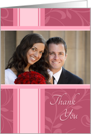 Wedding Thank You Photo Card - Honeysuckle Pink card