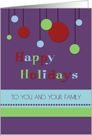 Happy Holidays Christmas Card - Modern Decorations card