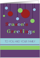Season's Greeting for Co-worker - Modern Decorations card