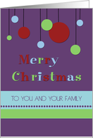 Merry Christmas Secretary Card - Modern Decorations card