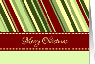 Merry Christmas Secretary Card - Festive Stripes card