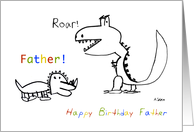 Happy Birthday, Greatest Father of them All card