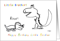 Happy Birthday, Greatest Little Brother of them All card
