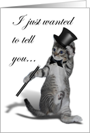 Tap Dancing Cat with Top Hat card