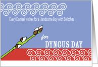 Dyngus Day Rhyme Willow Switch and Waves card