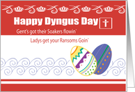 Dyngus Day Rhyme Easter Monday Ransom Eggs card