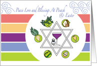 Interfaith Passover Plate Pesach and Easter Blessings card