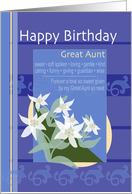 Great Aunt Delicately Layered Edelweiss Happy Birthday card
