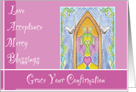 Stain Glass Window Confirmation card