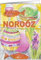 Norooz Celebration Watercolor card