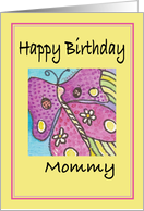 Butterfly Daisies and Ladybugs card