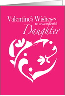 Daughter Valentine Garden Heart card