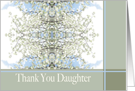 Daughter Thank You Spring Pear Bloom card