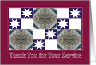 Thank You for Your Service Red Wheat Quilt card