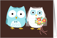 Owls Wedding Congratulations card