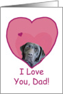 Birthday Love Dad Black Lab in Heart card