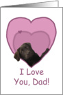 Love Dad Birthday Chocolate Labrador Dog in Heart card