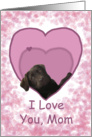 Love Mom Birthday Chocolate Labrador Dog in Heart card
