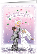 weselna para/wedding couple card