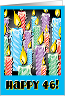 Sparkly candles -46th Birthday card