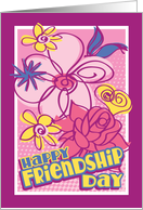 Flower doodles- Happy Friendship Day card