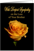 With Deepest Sympathy loss of Brother rose card