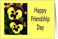 Happy Friendship Day two pansy flowers card