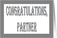 Congratulations Partner card