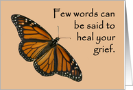 General sympathy prayer butterfly card