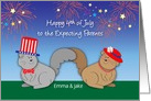 Custom Name 4th of July to Expecting Parents card