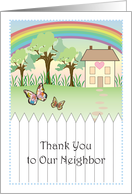 Thank You to Neighbor, primitive look card