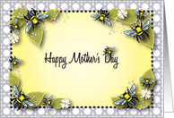 Mother's Day, bee theme, lattice card