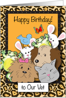 Happy Birthday to Veterinarian, animals card