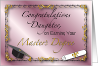 Congratulations, Daughter, Master's Degree card