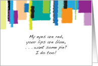 National Bad Poetry Day, colorful abstract card
