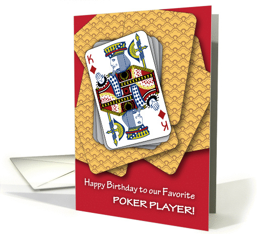 Happy Birthday To Poker Player Card (1336236