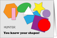 Congrats, Learning Shapes, custom name card
