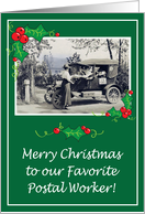 Christmas/Mail Delivery, postal worker card