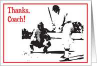 Thank You / Baseball Coach card