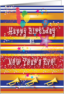 Birthdays / New Year's Eve card