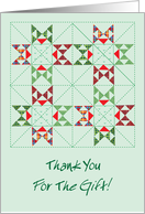 Christmas / Thank You for the Gift, Quilt card